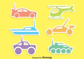 Colorful Rc Silhouette ikoner Vector