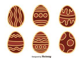 Hand gezeichnet Nizza Schokolade Ostereier Vektor