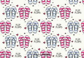 Doodle Flip Flops Vector Mönster