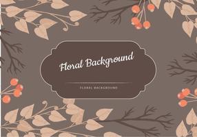Vector Brown Floral Hintergrund