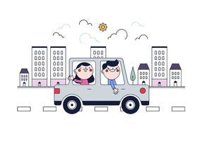 Freier Carpooling Vektor