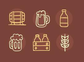 Nizza Bier Element Sketch Icons Vector