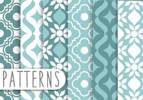 Blaues dekorative Muster Set vektor