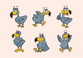 Dodo-Cartoon-Figur Pose Vektor-Illustration vektor