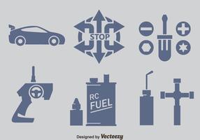 Radiostyrd bil Element ikoner vektorer