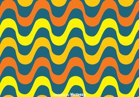 Orange Und Gelbe Copacabana Wellenmuster Vektor