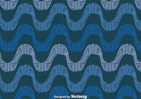 Blau Copacabana Seamless Pattern vektor