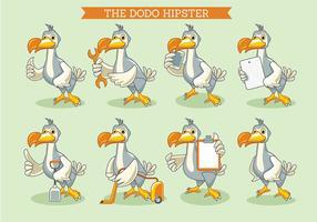 Die Dodo-Vogel-Illustration Hipster Stil vektor