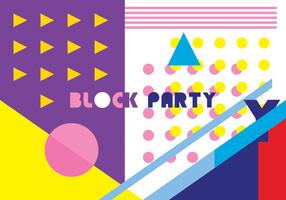 Block Party Vektor