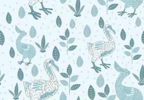 Nahtlose Muster von Dodo Illustration mit skandinavischem Stil vektor