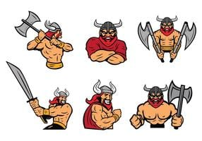 Free Vikings Logo Vector Set