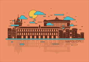 Napoli Stadt Vektor