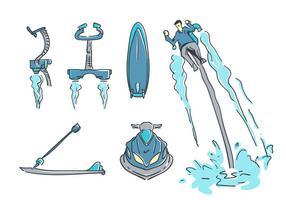Gratis Enastående Water Jet vektorer