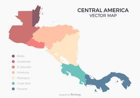 Centralamerika karta med färgade Länder vektor