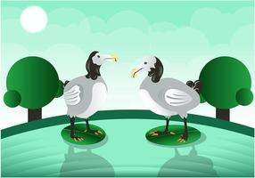 Schöner Dodo Vogel Vektor