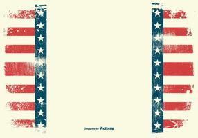 Grunge amerikanska patriotiska bakgrunden vektor