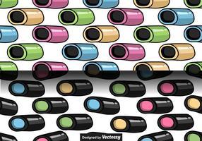 Lakritz Süßigkeiten Vektor Nahtlose Muster