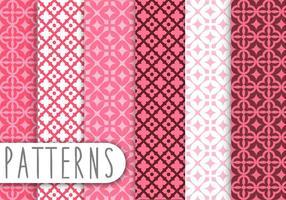 Rosa Damast Dekoratives Muster Set vektor