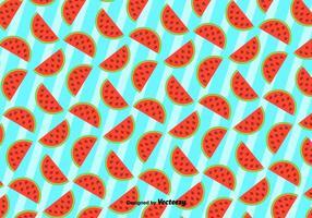 Netter Hintergrund Der Wassermelone - Vektor Muster