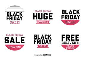Vector Discount Werbung Set