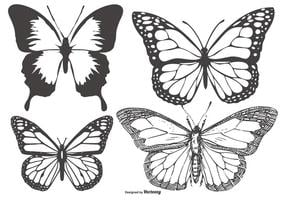 Vintage fjäril / Mariposa samling vektor