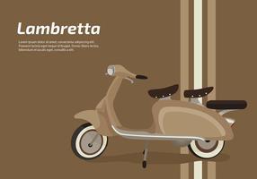 Lambretta Classic Scooter Gratis Vector