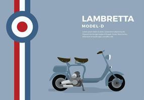 Lambretta Modell D Freier Vektor