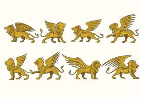 Prowling Winged Lion Vektoren Fulcolor