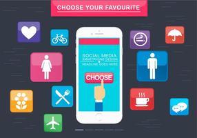 Gratis Smartphone Vector Design