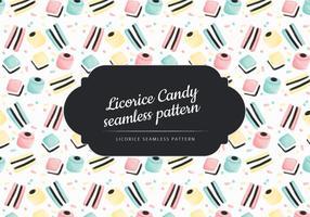 Vektor Hand gezeichnet Lakritze Süßigkeiten Muster
