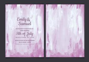 Vektor lila vattenfärg bröllop inbjudan