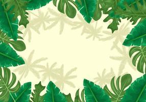Palmetto Blätter Hintergrund vektor