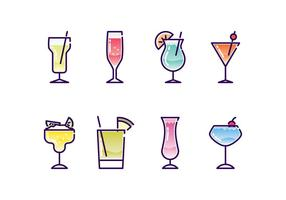 Cocktails Icon Set vektor