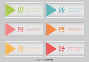 Schritt für Schritt Infografik - Vektor