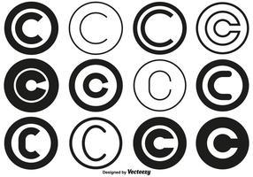 Vector Copyright Symbol Sammlung