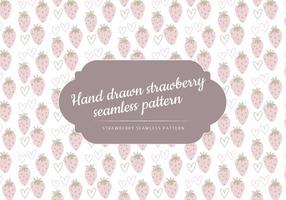 Vector Hand Drawn Erdbeeren Muster