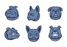 Kostenlose Bulldoggen Maskottchen Vektor