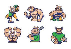 Gratis Bulldogs Mascot Vector idé för sport