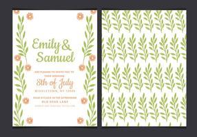 Vektor grüne Hochzeits-Einladung