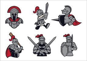 Gratis Knights Logo Vector Set