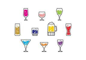 Gratis Cocktail Ikon Vector