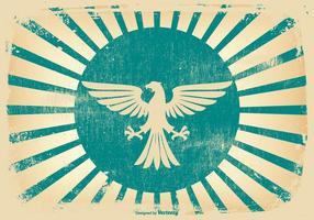 Retro Grunge Eagle Hintergrund
