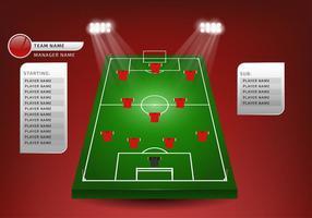 Fotbollsplanering Fri vektor