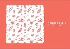 Summer Party mönster Gratis Vector