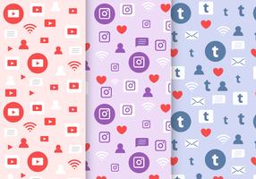 Gratis Social Media Mönster vektor