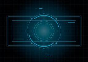 HUD Hintergrund und Element Hintergrund Set vektor