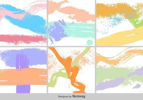 Grunge Farbe Hintergrund Set vektor