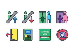 Store-Abteilung Sign Icons