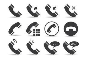 Telekommunikationstelefonvektorer