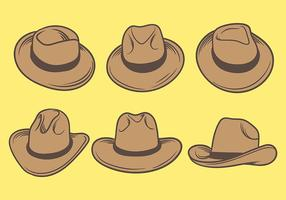 Gaucho hattar ikoner vektor